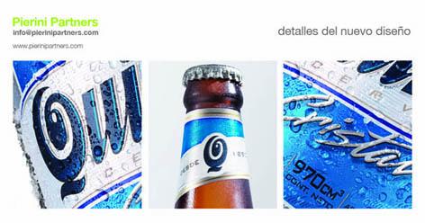 Nuevo diseño para packaging de cerveza Quilmes Cristal