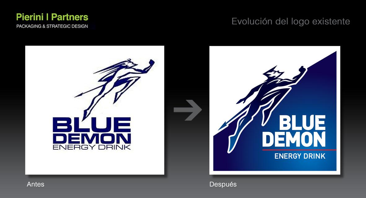 Evolución Logo Blue Demon