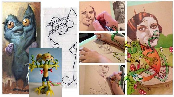 Qué hace un diseñador / ilustrador con los dibujos de un niño?